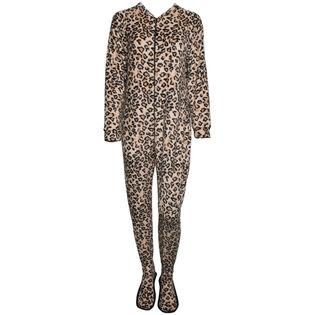 Women's One-Piece Leopard Print Pajama