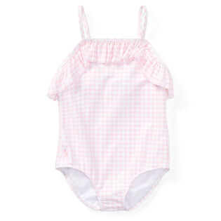 Girls' [5-6X] Gingham One-Piece Swimsuit
