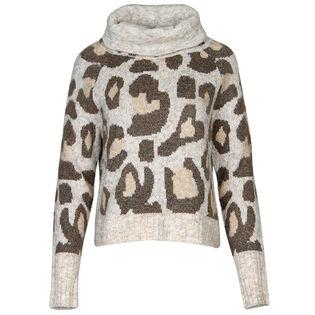 Women's Leopard Turtleneck Sweater