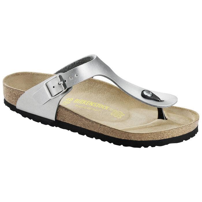 Sandales Gizeh argentées pour femmes