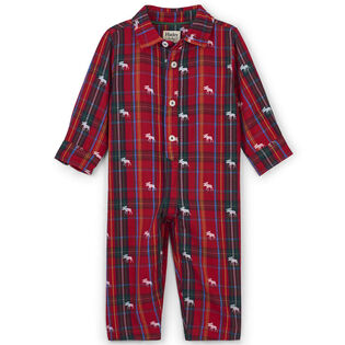 Baby Boys' [3-24M] Moose On Plaid Jumpsuit