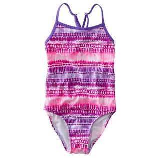 Junior Girls' [8-16] Wave Jumper One-Piece Swimsuit
