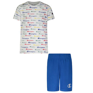 Boys' [2-4] Multi Script Tee + Short Two-Piece Set