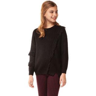 Junior Girls' [7-14] Fringe Sweater