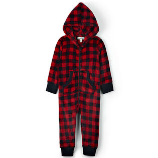 Kids' [2-14] Hooded Fuzzy Fleece Jumpsuit