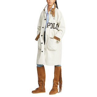 Women's Logo Cotton Canvas Barn Coat