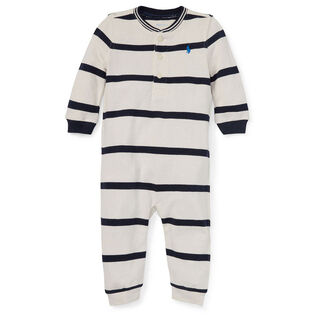 Baby Boys' [3-9M] Cotton Mesh Henley One-Piece Coverall