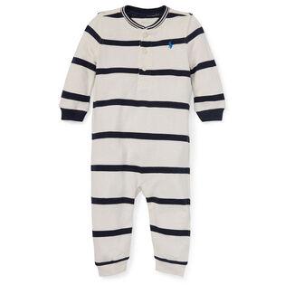 83da59fd46db Baby Boys   3-9M  Cotton Mesh Henley One-Piece Coverall ...