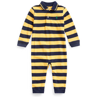 Baby Boys' [3-12M] Cotton Mesh Polo Coverall