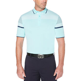 Men's Engineered Striped Birdseye Polo