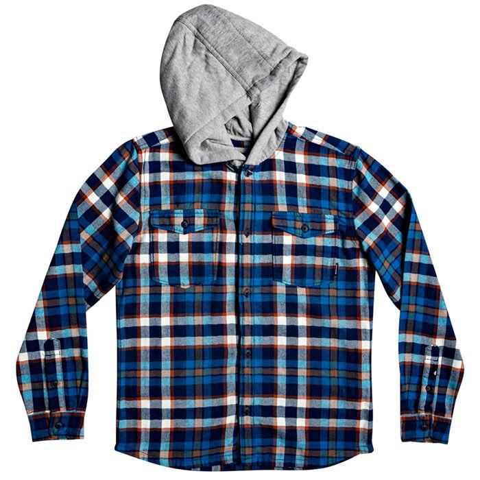 Chemise à capuchon Snap Up pour garçons juniors [8-16]