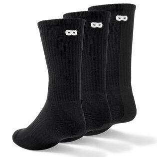 Men's BOWO Ribbed Crew Sock (3 Pack)