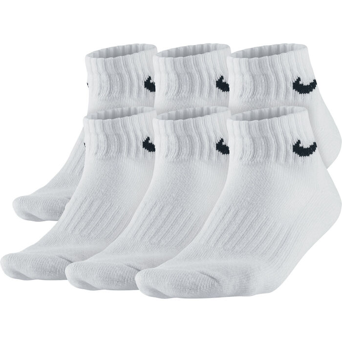 Boy's Banded Cotton Quarter Socks [6-Pack] (Medium)