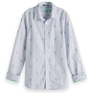 Chemise en jacquard à motif de palmiers pour garçons juniors [8-16]