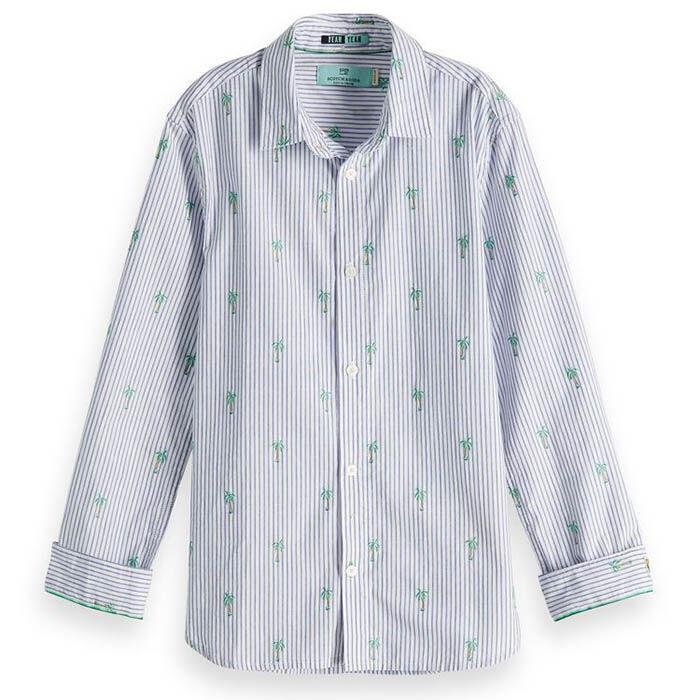 Junior Boys' [8-16] Palm Jacquard Shirt