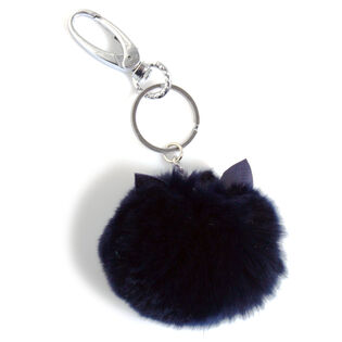 Cat Ears Fur Keychain