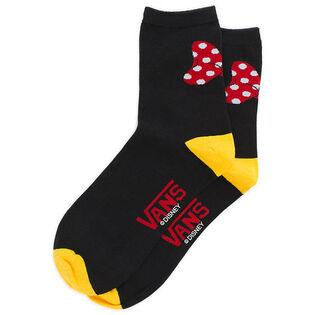 Women's Mickey's 90TH Minnie Crew Sock