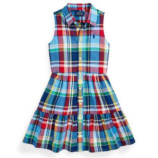 Girls' [5-6X] Cotton Madras Shirtdress