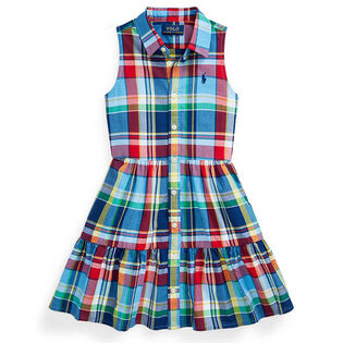 Girls' [2-4] Cotton Madras Shirtdress
