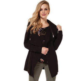 Women's Multi-Zip Waterfall Cardigan