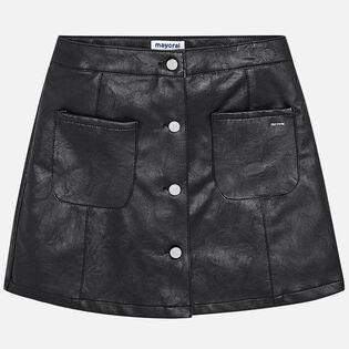 Junior Girls' [8-16] Leatherette Skirt
