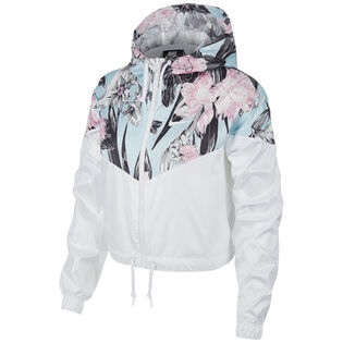Women's Cropped Floral Windrunner Jacket