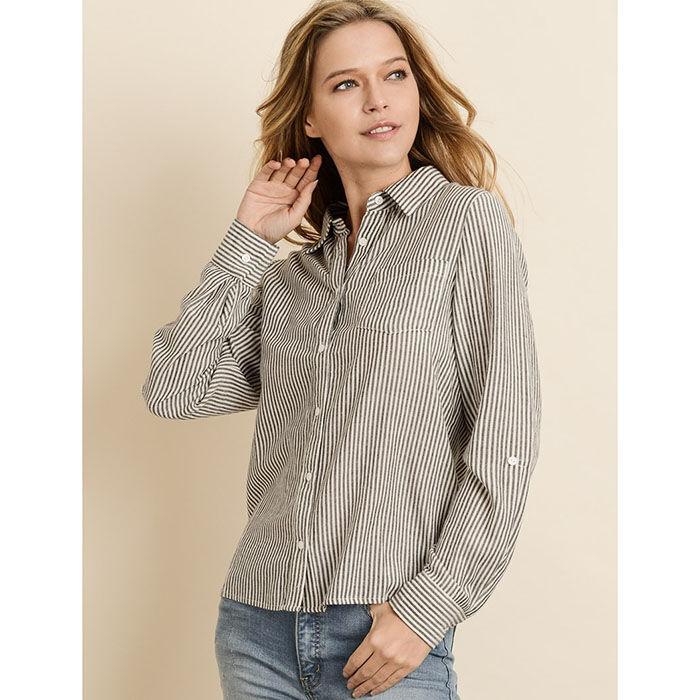 Chemise à rayures pour femmes