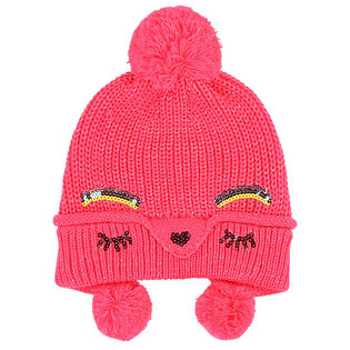 Girls' [3-8] Sequin Knit Hat