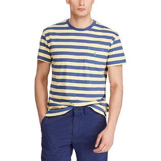 Men's Classic Fit Striped Pocket T-Shirt