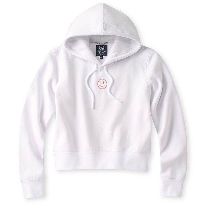 Women's Embroidered Cropped Fleece Hoodie