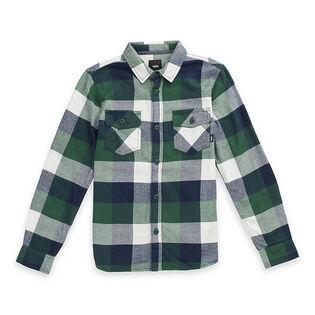 Junior Boys' [8-16] Box Flannel Long Sleeve Shirt
