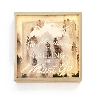 Mountain Calling Light Box