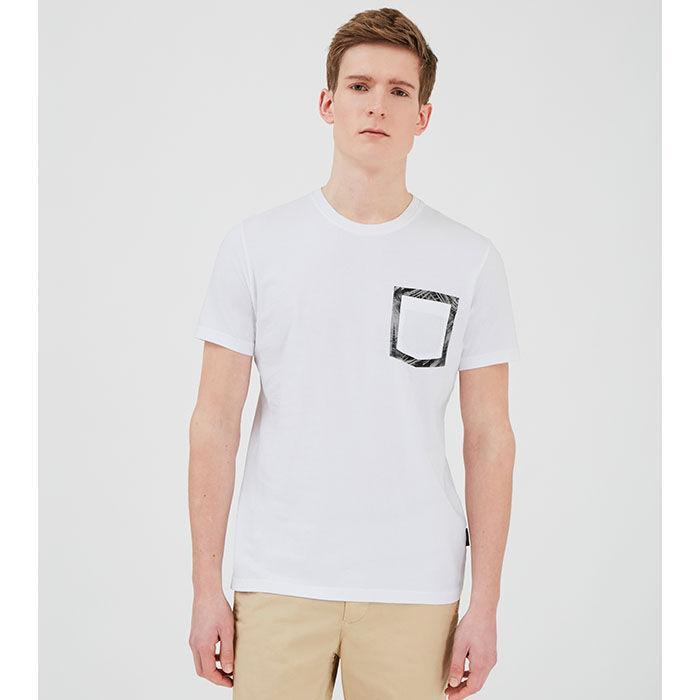 T-shirt à poche Floreal pour hommes