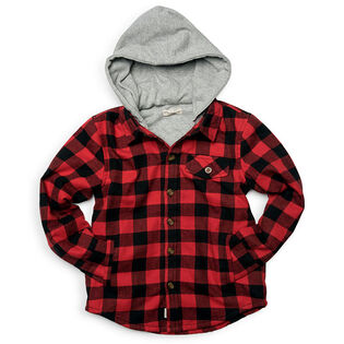 Boys' [4-10] Glen Hooded Shirt