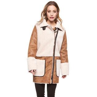 Women's Exposed Sherpa Coat