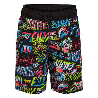 Boys' [4-7] Tattoo Print Swim Trunk