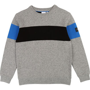 Junior Boys' [4-16] Blocked Badge Sweater