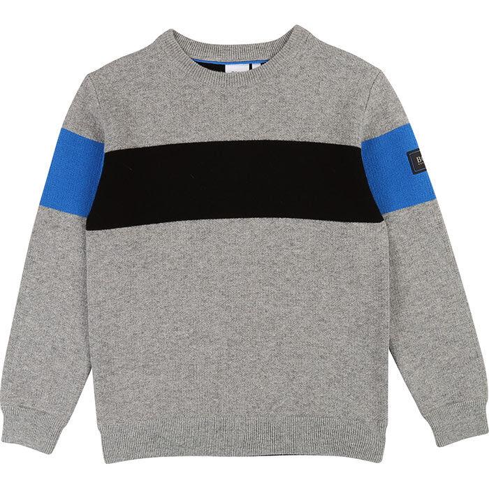 Junior Boys' [4-16] Blocked Badge Sweater