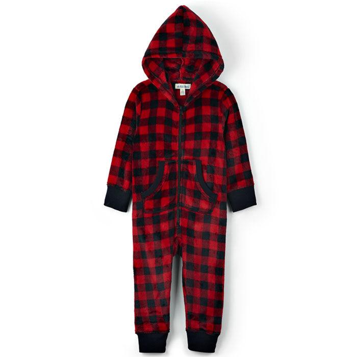 Kids' [2-14] Hooded Fuzzy Fleece Jumpsuit