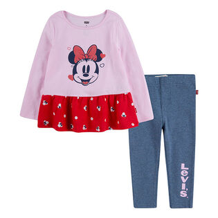 Girls' [2-4T] Disney® Mickey Top + Legging Two-Piece Set