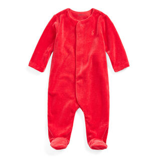 Baby Boys' [3-9M] Cotton-Blend Velour Coverall