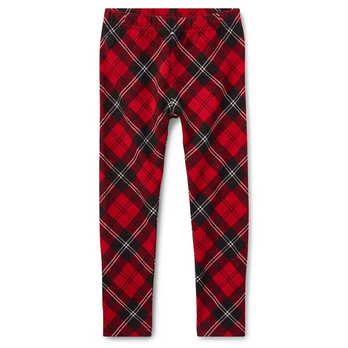 Legging à motif écossais en jersey pour filles [5-6X]