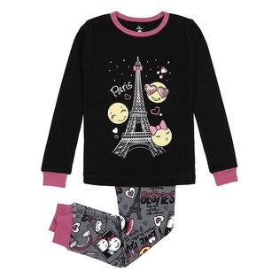 Girls' [4-6X] Emoji Print Two-Piece Pajama Set
