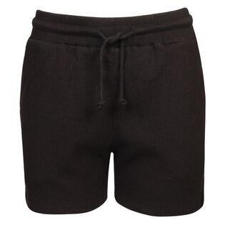 Short en tricot gaufré pour femmes