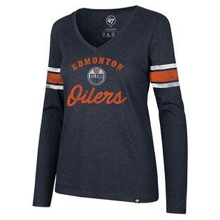 Women's Edmonton Oilers Script Club Top