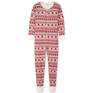 Unisex Fair Isle Bear Union Suit