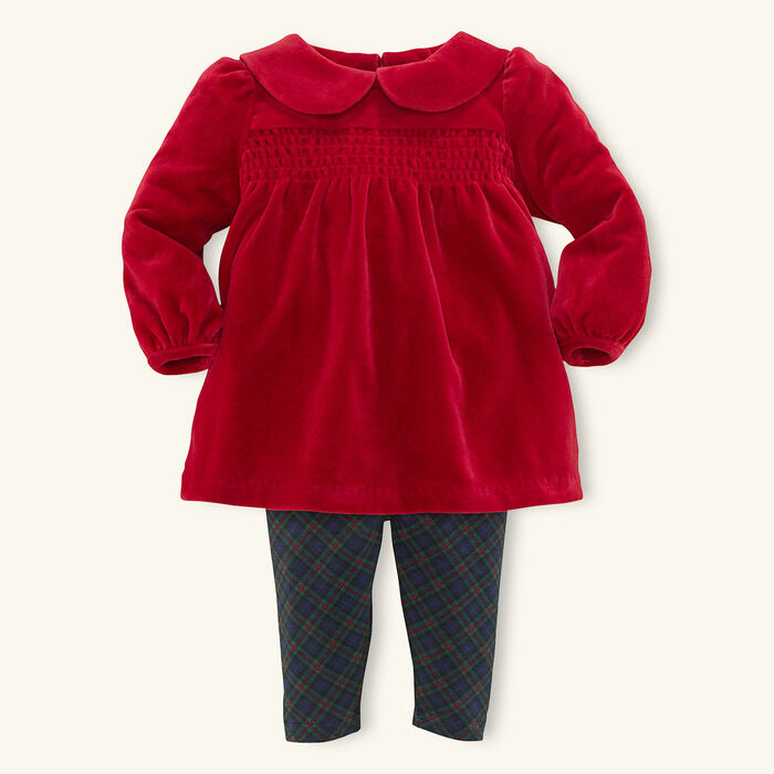 Baby Girl's [3-9M] Two Piece Tunic And Legging Set