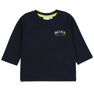 Boys' [3M-3Y] Logo Long Sleeve T-Shirt