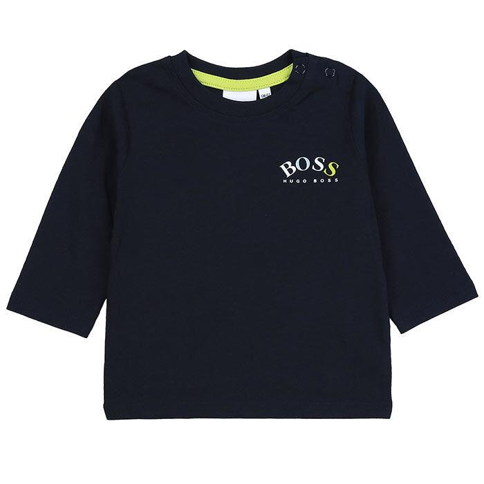 Chandail à manches longues Logo pour garçons [3M-3]