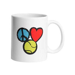 Peace Love & Tennis Mug